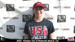 2022 Katelyn Tan Second Base and Third Base Softball Skills Video - USA Athletics
