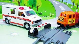 Мультики про машинки с игрушками Плеймобил - Выносливость и полиция! Игрушечные видео для мальчиков