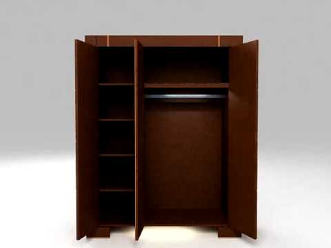 Der dreitürige Schrank aus der Kollektion NEW IMAGE