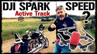 DJI Spark How Fast will it Follow a Motorcycle?
