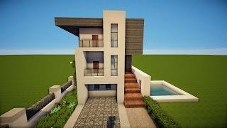 Minecraft Kleine Villa Bauen So Baut Ihr Eine Kleine Villa Mit - Minecraft haus bauen tutorial deutsch