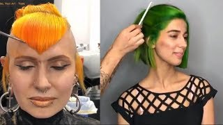 NEW Hair Color Transformation - 15 Amazing Beautiful Hairstyles Tutorial Compilation!