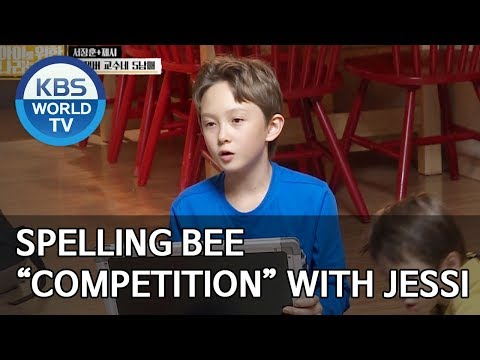 "Spelling bee ""Competition"" with Jessi [Trio's Childcare Challenge/ENG/2019.11.20]"