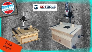 Bohr und Frässtation/Wabeco BF1240-Bohrständer/Bosch GSB 21-2 RCT-Schlagbohrmaschine