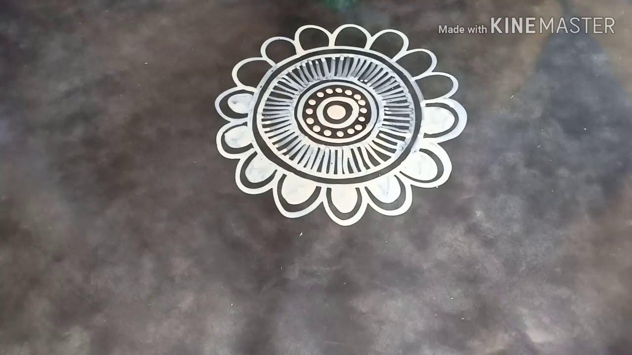 laxmi puja special alpana rangoli design by mukesh arts