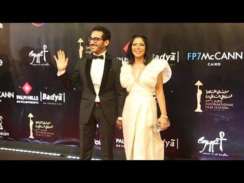 أحمد حلمي ومنى زكي وشيرين رضا بإطلالات مميزة في افتتاح «القاهرة السينمائي»
