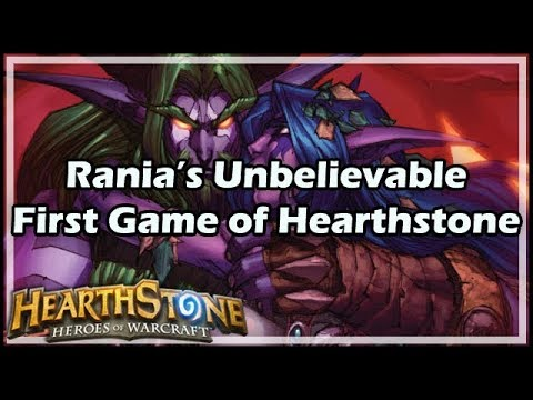 [Hearthstone] Rania's Unbelievable First Game of HS