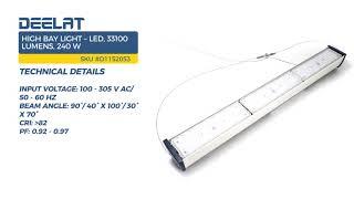 High Bay Light – LED, 33100 Lumens, 240 W