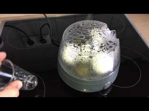 Eier in Eierkocher zubereiten Ei kochen in elektrischem Eierkocher Frühstücksei Anleitung