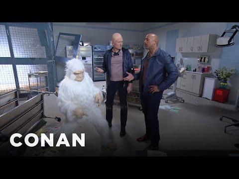 "Conan Becomes Dwayne Johnson's ""Rampage"" Stunt Double (видео)"