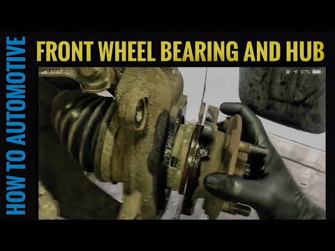 How to Replace the Front Hub and Wheel Bearings  on a 2003-2009 Nissan Quest