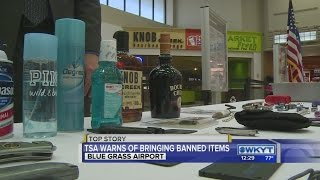 TSA reminding travelers what is banned from flights ahead of Kentucky Derby weekend