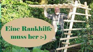 Klettergerüst Für Rosen Selber Bauen : Pflanzkasten pflanzkübel mit rankhilfe selber bauen diy