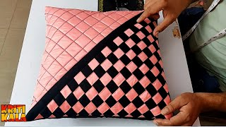 Very Beautiful Cushion Cover Cutting And Stitching   DIY Cushion Cover