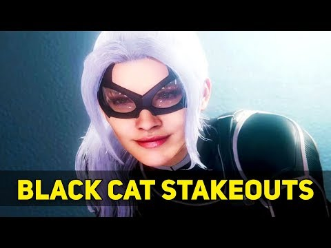 Spider-Man PS4 BLACK CAT Mystery - Complete Guide Black Cat Stakeouts (Unlock Dark Suit)