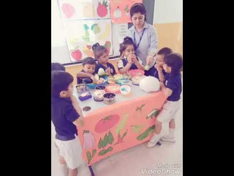 Junior Kindergarten of Mount litera Zee School had organized an activity of Benefits of Fruits and Vegetables on July 19,2019.