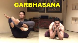 Watch Sushmita Sen and Boyfriend Rohman Shaw garbhasana video  !!