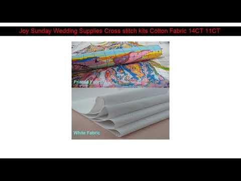 Joy Sunday Wedding Supplies Cross stitch kits Cotton Fabric 14CT 11CT Needlework Embroidery Home De
