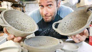 How To Make A BERRY BOWL!! Clay, Pottery, Ceramics Tutorial!