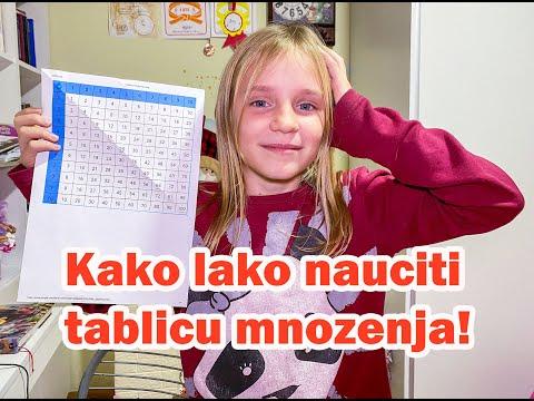 Kako lako nauciti tablicu mnozenja! Trikovi i ucenje sa karticama.