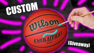Custom BASKETBALL! (Giveaway)  - Jordan Vincent