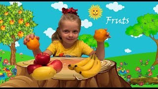 Pupsiki draws and to name Fruit  Educational Video for kids