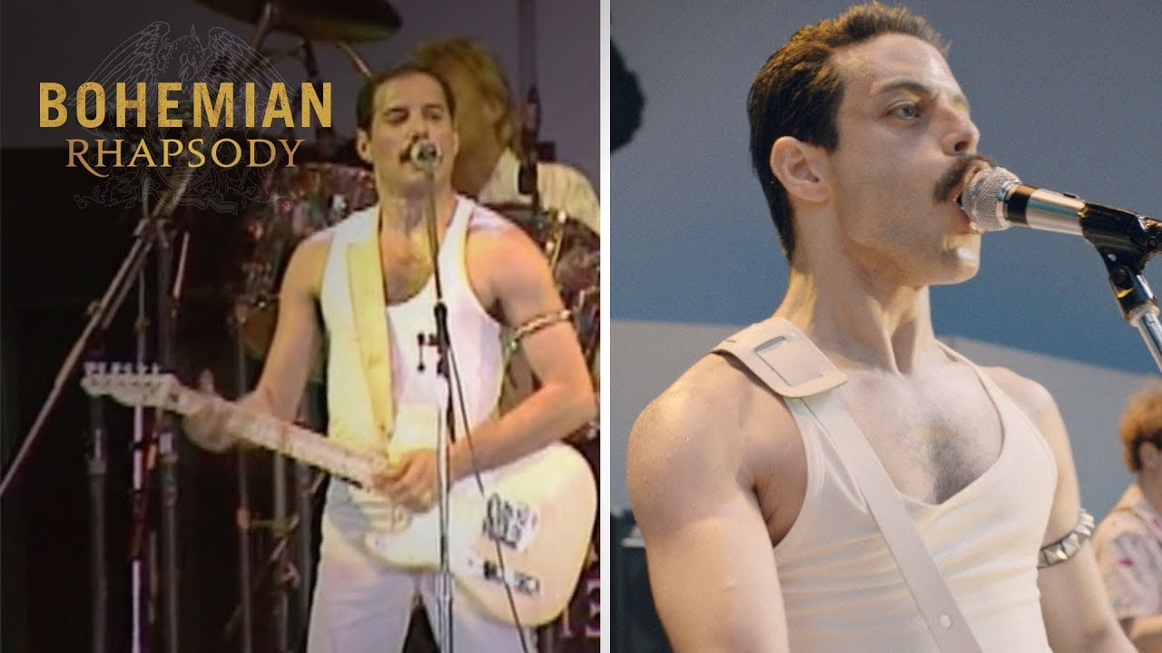 "Bohemian Rhapsody - Live Aid Side by Side: ""Crazy Little Thing Called Love"""