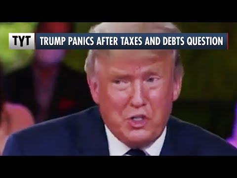 Trump Panics When Asked About Debts and Taxes