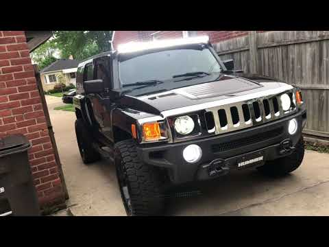 Notorious Joe LED Light Bar Finished Product On Da H3 HUMMER Mp3