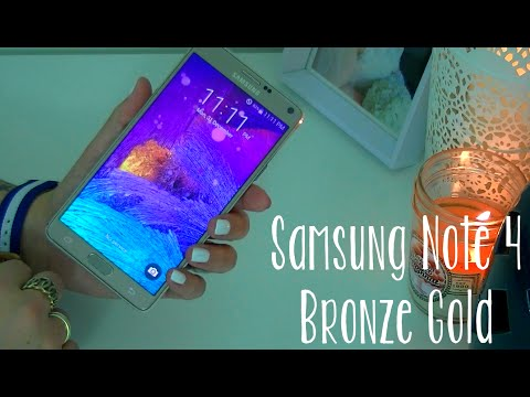 ● Samsung Galaxy Note 4 BRONZE GOLD ● Unboxing, 1st boot & quick look!
