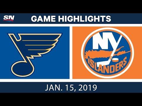 NHL Highlights | Blues vs. Islanders - Jan. 15, 2019