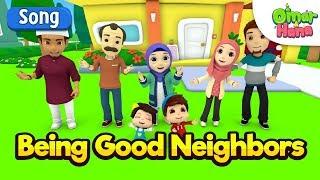 Omar & Hana | Being Good Neighbors | Islamic Cartoon for Kids | Nasheed