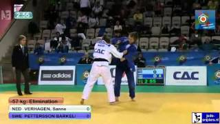 Judo 2012 European Championship U23 Prague: Verhagen (NED) - Barkeling (SWE) [-57kg]