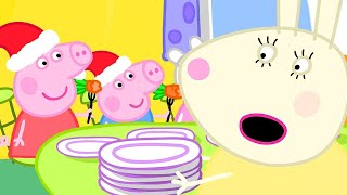 Peppa Pig Official Channel   Miss Rabbit's Day Off on Christmas Day