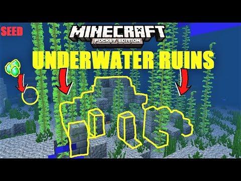Minecraft PE - BEST SURVIVAL ISLAND SEED FOR EXPLORING OCEAN MONUMENT  SHIPWRECKS & MORE - MightyMapExplorer