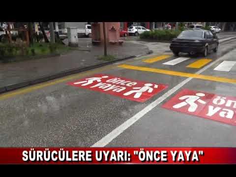 """BOLU'DA SÜRÜCÜLERE UYARI: """"ÖNCE YAYA"""""""