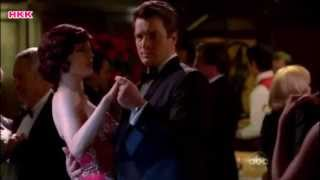 "Castle1x07""Home is where heart Stops"" -Rick&Kate dance together"