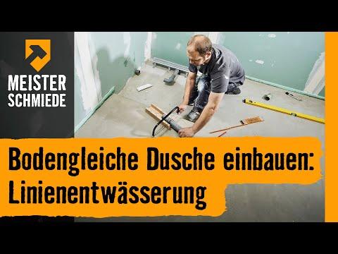 Bodengleiche Dusche einbauen: Linienentwässerung | HORNBACH Meisterschmiede