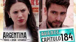 """Avance emitido el jueves 28 de noviembre de 2019 en eltrece, correspondiente al capítulo 184 de """"Argentina, tierra de amor y venganza""""."""