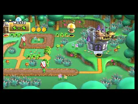 New Super Mario Bros Wii Walkthrough 100 Part 7 World 4 4 1