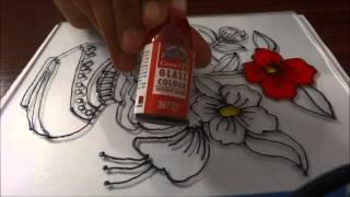 Glass Painting - Step By Step Demonstration