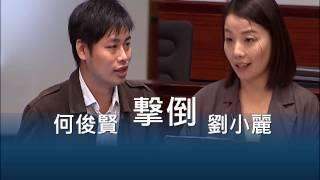 立法會會議何俊賢擊倒劉小麗