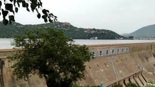 Top View of Mettur dam with full capacity July 2018