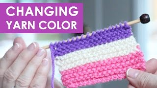 How to Change Yarn in Knitting