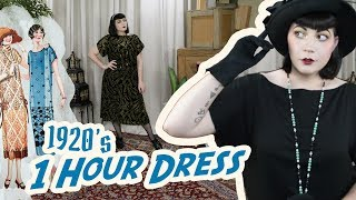 How To Make A 1920s Dress // Making The 1 Hour Dress, A Sewing Diary