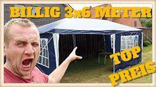 ✅ BILLIGES  Partyzelt Festzelt 3x6m blau Camping Vereinszelt Strand Faltpavillon