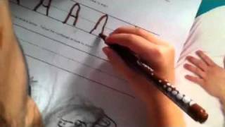 Tracing Letter A