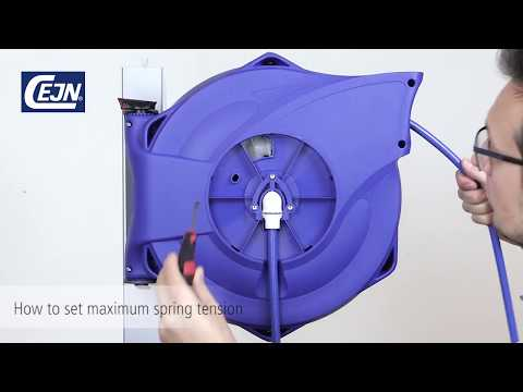 CEJN Safety Reel - Adjusting the spring tension (closed reels)