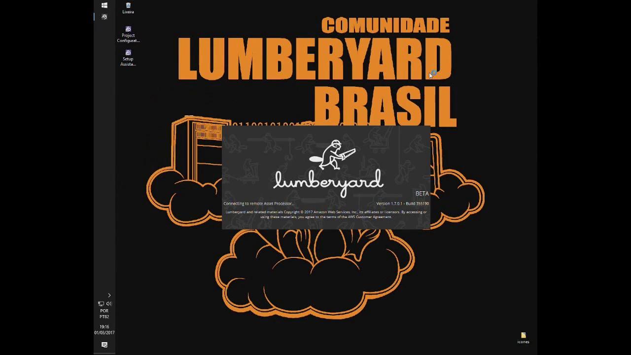 Instalação e configuração da Lumberyard engine da Amazon.