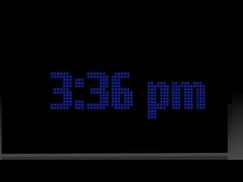 Video of Desk Clock